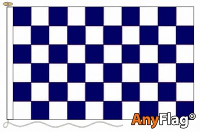 NAVY BLUE AND WHITE CHECK ANYFLAG RANGE - VARIOUS SIZES